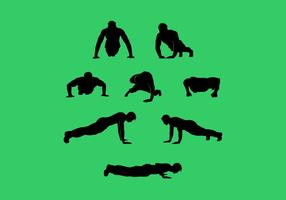 Pushup Silhouette Free Vector