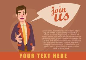 Business Join Us Concept Vector