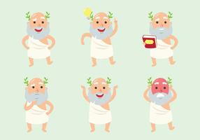 Socrates cartoon set