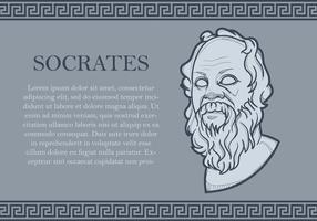 Retrato de Sócrates vector