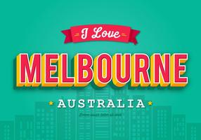 Tarjeta de felicitación retra de Melbourne