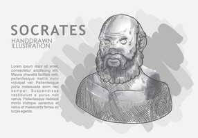 Sócrates desenhado a mão