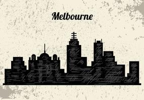 Silhouette Of Melbourne City vector