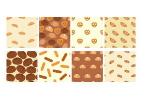 Bread and Brioche Patterns Vector