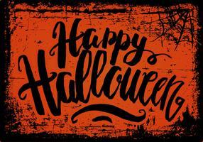 Spooky Grunge Happy Halloween Background