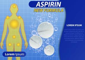 Vector de modelo de aspirina efervescente
