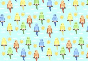 Budgie Pattern Vector