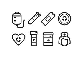 Set di icone di ospedale gratis