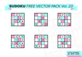 sudoku vecteur libre pack vol. 23