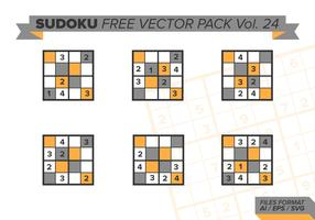 sudoku vecteur libre pack vol. 24