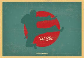 Grungy tai chi illustration