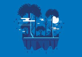 Swamp Landscape 2 Vector