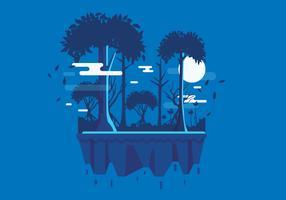 paisagem pantanosa 2 vetor