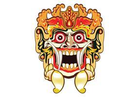 Vector de la máscara de Barong Bali