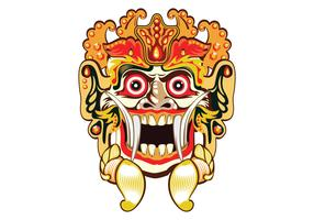 Barong Bali Mask Vector