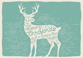 Ciervos de la Navidad del vector libre
