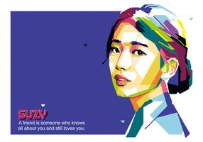 Woman Named Suzy Vector WPAP