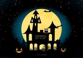 gespenstische Halloween Illustration