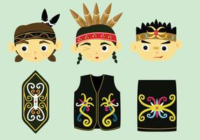 Dayak Vector Pack