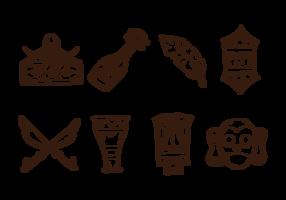 Dayak Icons Vektor