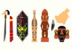 Set Of Dayak Icons