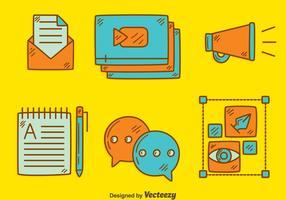 Handdragen Content Creator Element Vector