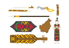 Gratis Dayak Vector Elements