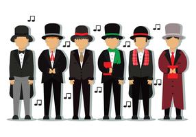carolers vector set