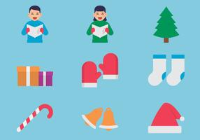 Kerstpictogram set