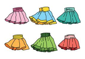 Frills with Skirts Vector Icons