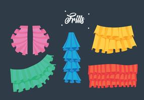 Frills Collection Vector Illustration