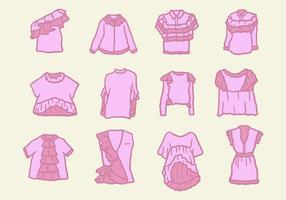 Unieke shirts met franje-vectoren