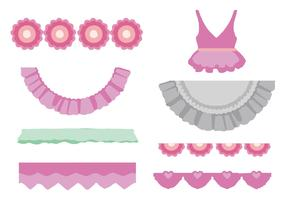 Free Ribbon Friils and Dress Vector