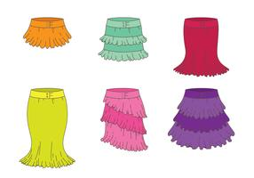 Skirt With Frills Vectors