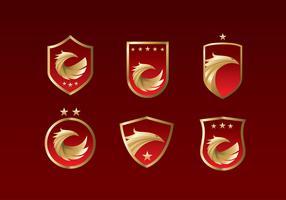 Buzzard Emblem Free Vector