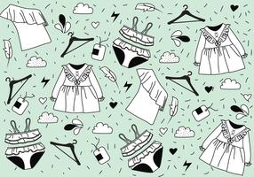 Clothes with Frills Vector Pattern