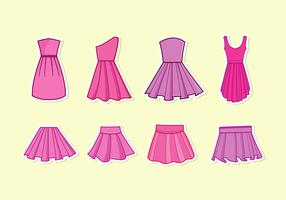 Frilly Dress Vector