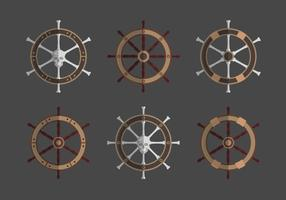 Ships Wheel Collection Vector Illustration
