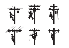 lineman silhouet vector