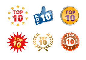 Vector de insignia de Top 10
