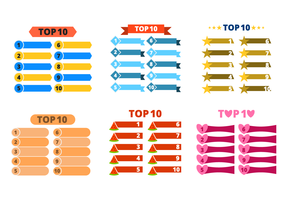 Top 10 List Vector