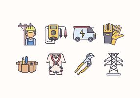 Electricians Icon Set