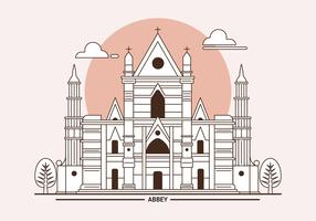 Westminster Abbey London Landmark Vektorillustration