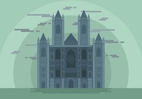 Westminster Abbey Landmark Vector Illustration