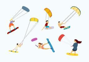 Kitesurfing Vector