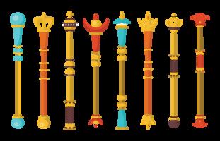 Sceptre Icons Vector