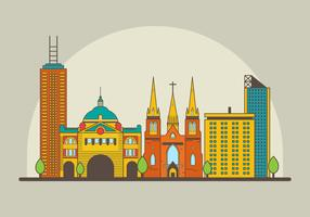 Free Melbourne Landmark Illustration