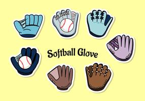 softbal handschoen vector