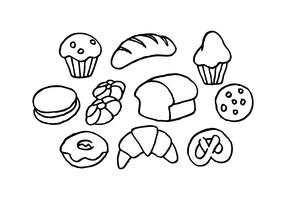 Free Bread Sketch Icon Vector