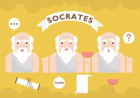 Personaje de Vector de Sócrates